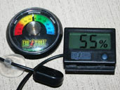 Hygrometers are humidity gauges that are useful for monitoring the humidity within your Royal Python vivarium